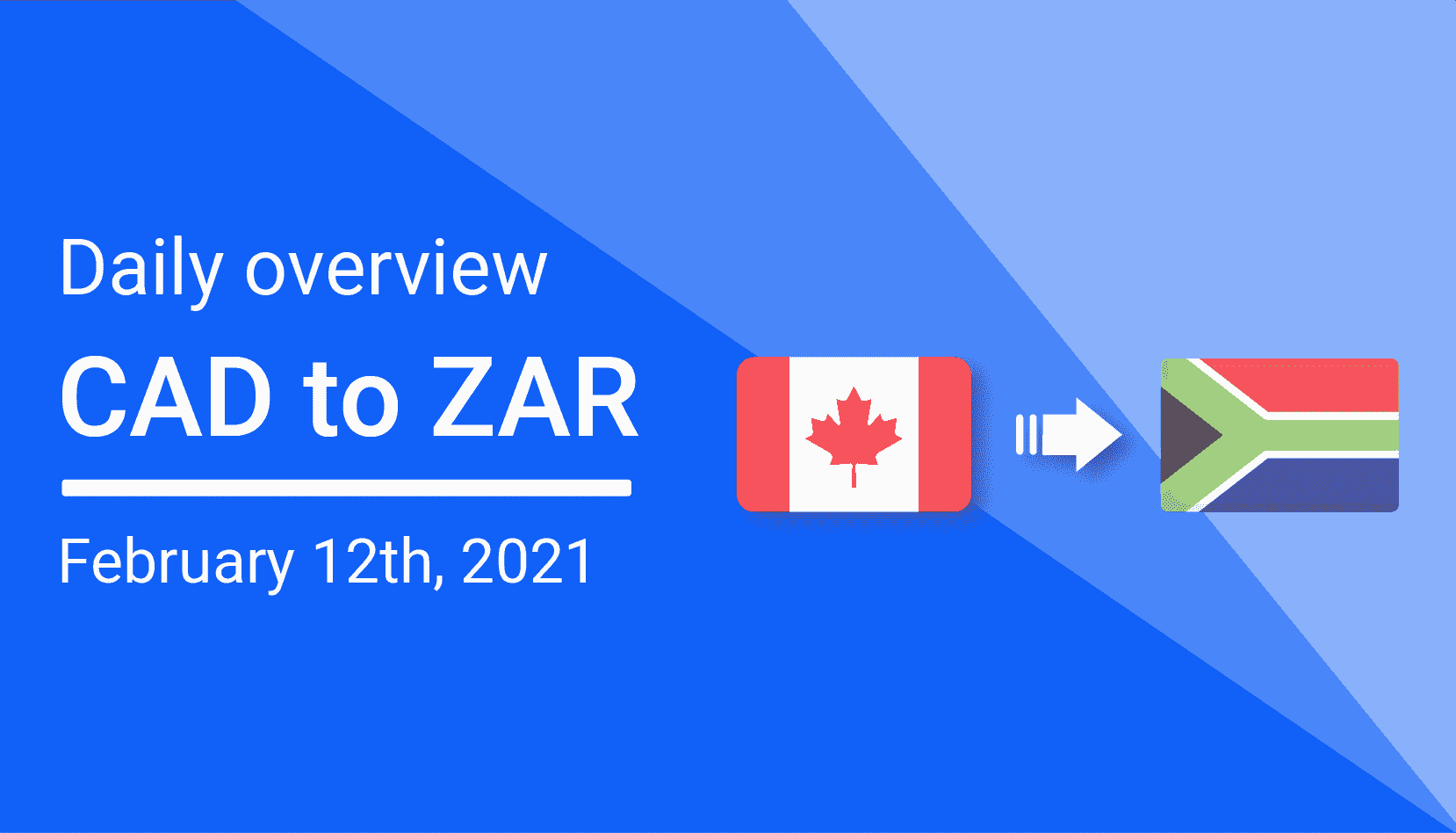 CAD to ZAR Daily Overview: February 12th