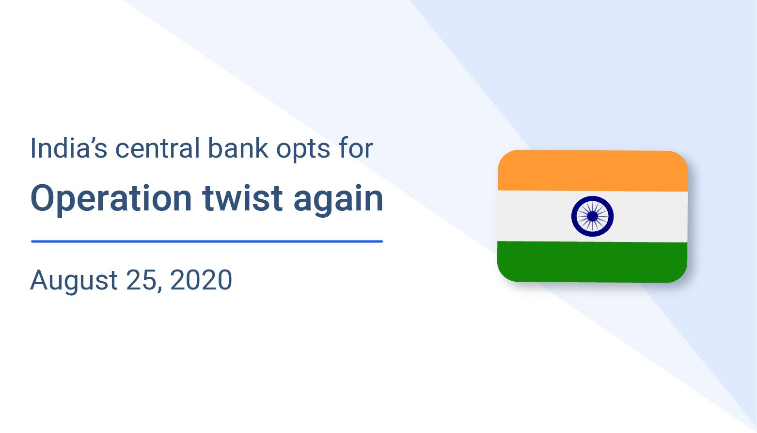 India's central bank opts for operation twist again