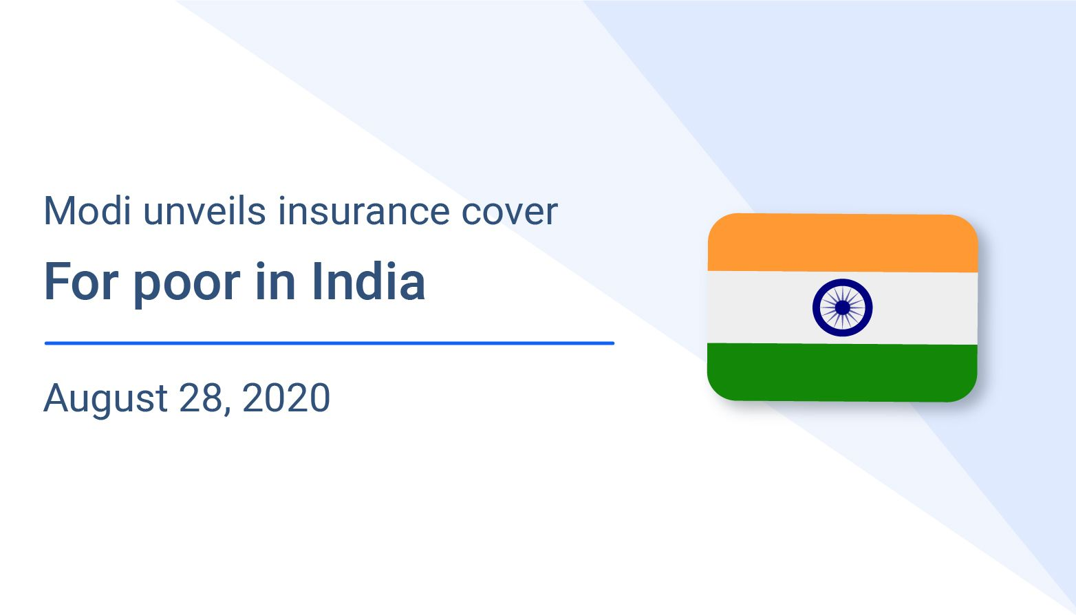 Modi unveils insurance cover for poor in India