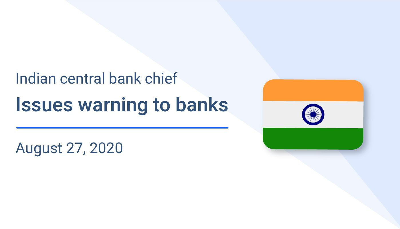 Indian central bank chief issues warning to banks