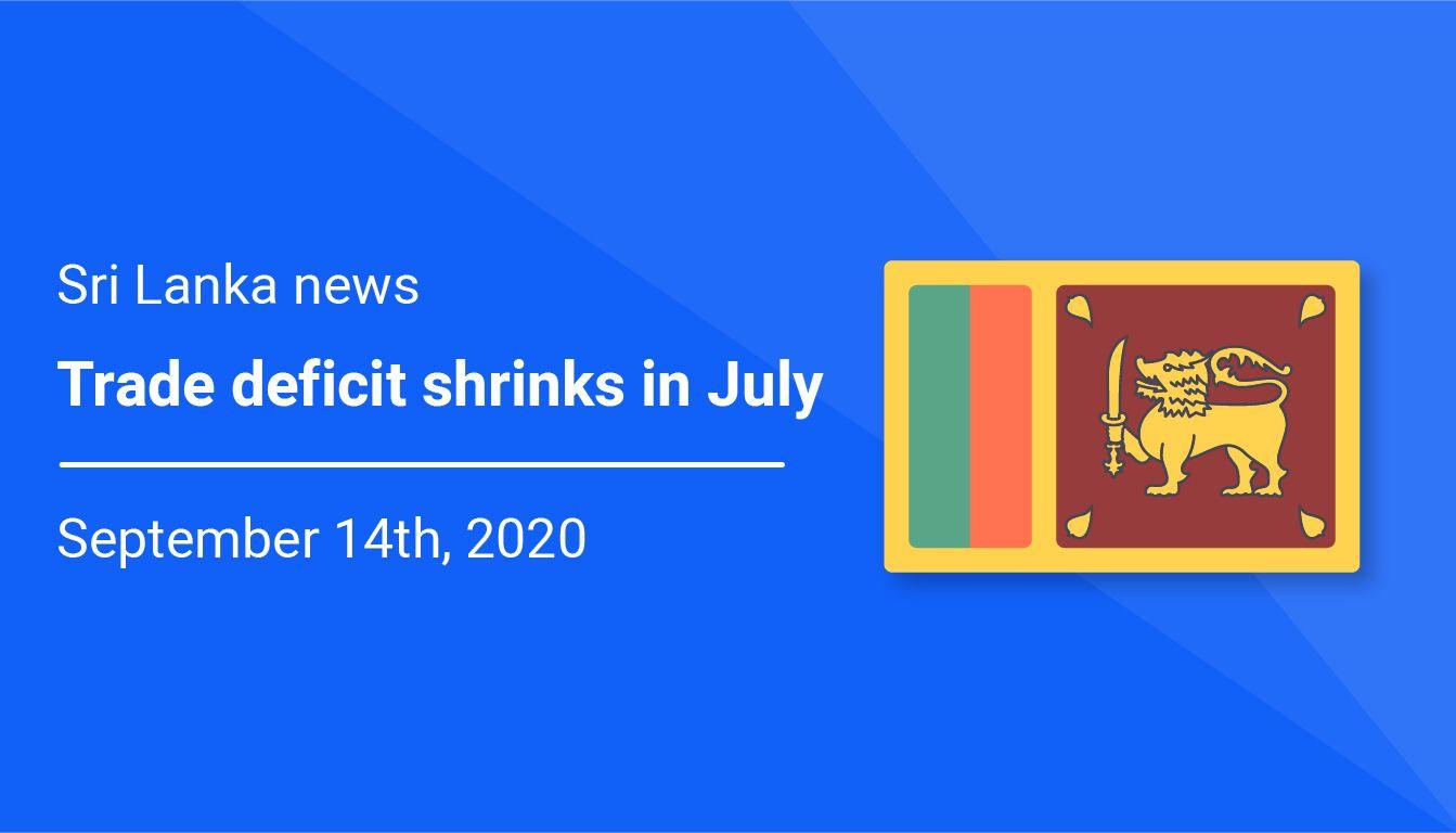 Sri Lanka trade deficit shrinks in July
