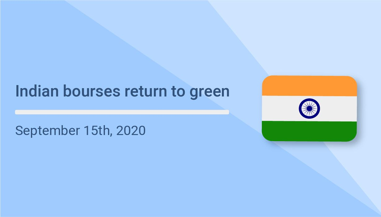 Indian bourses return to green