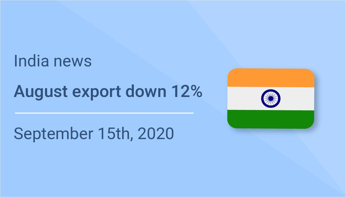 India's August export down 12.66%