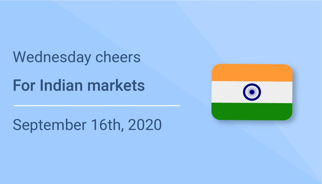 Wednesday cheers for Indian markets