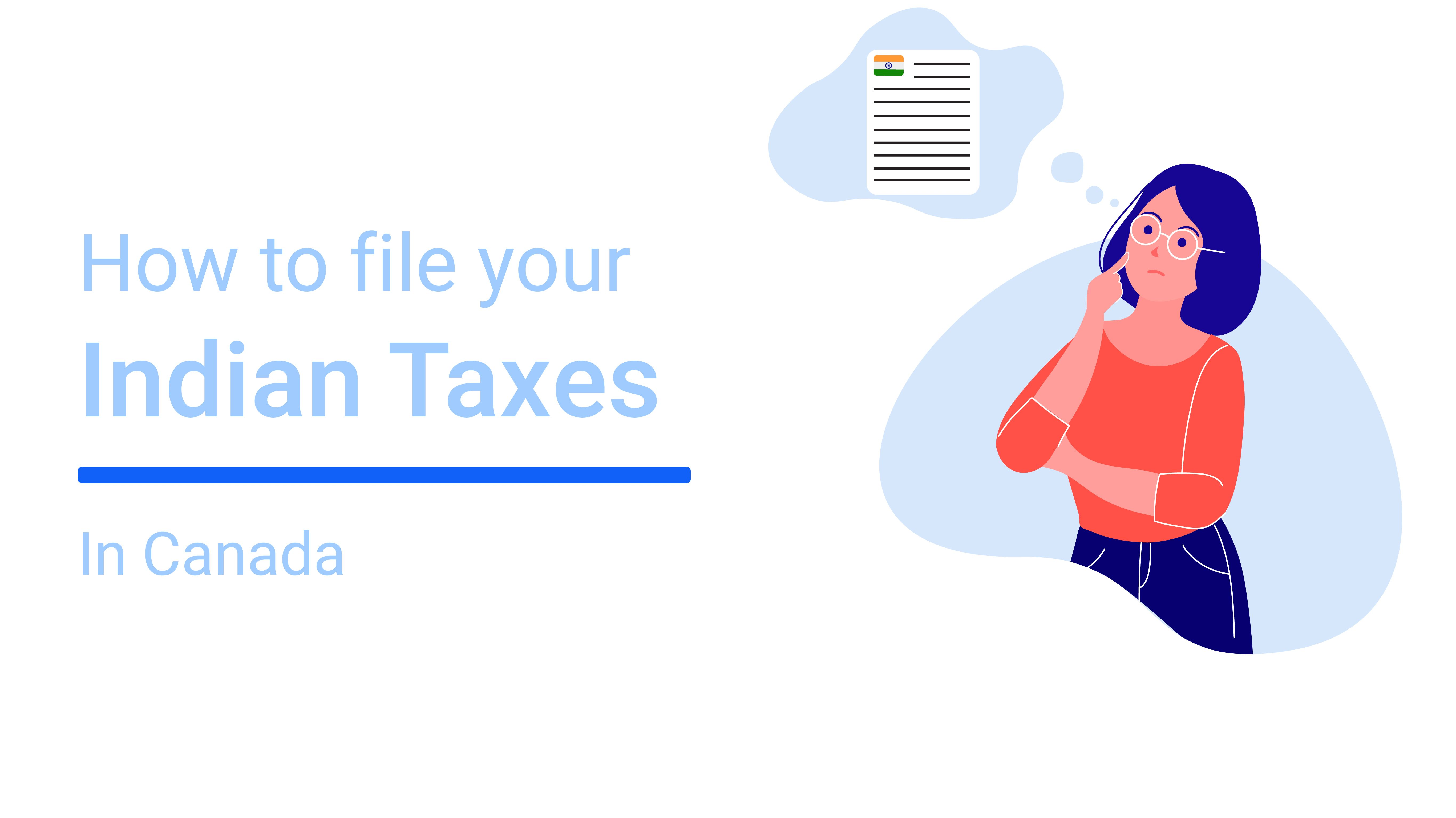 How to file your Indian taxes from Canada