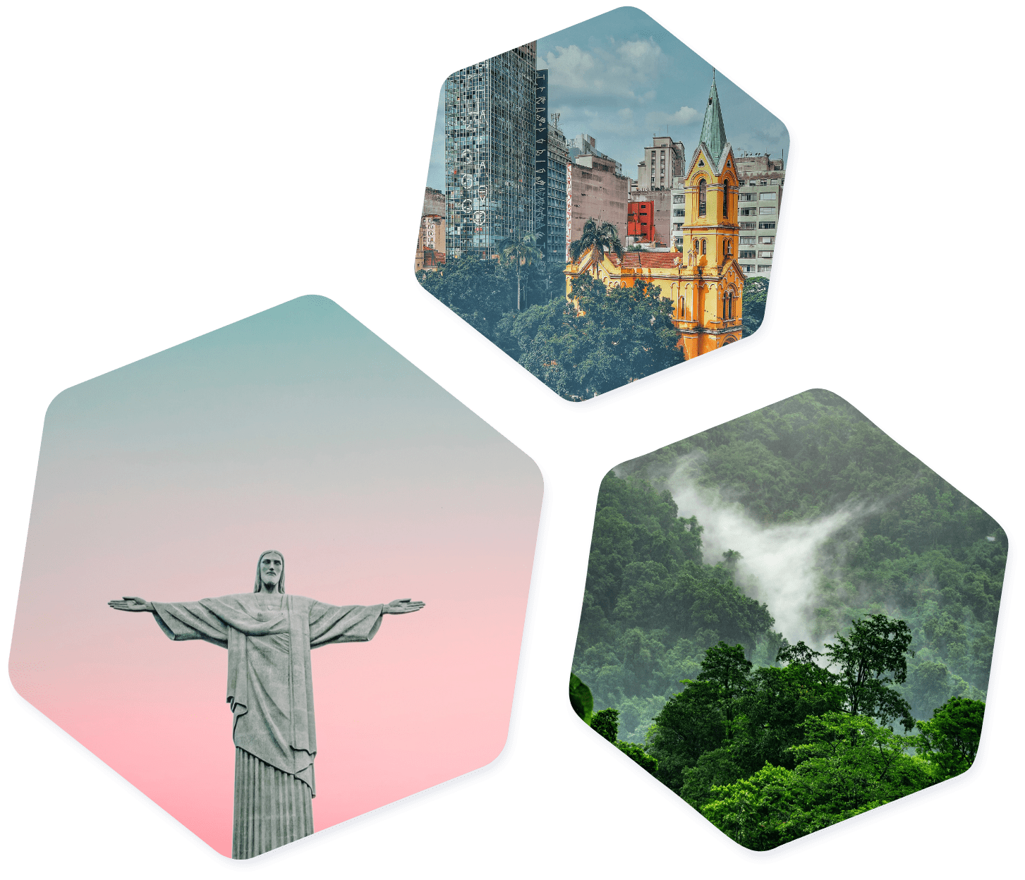 Brazilian images hexagon
