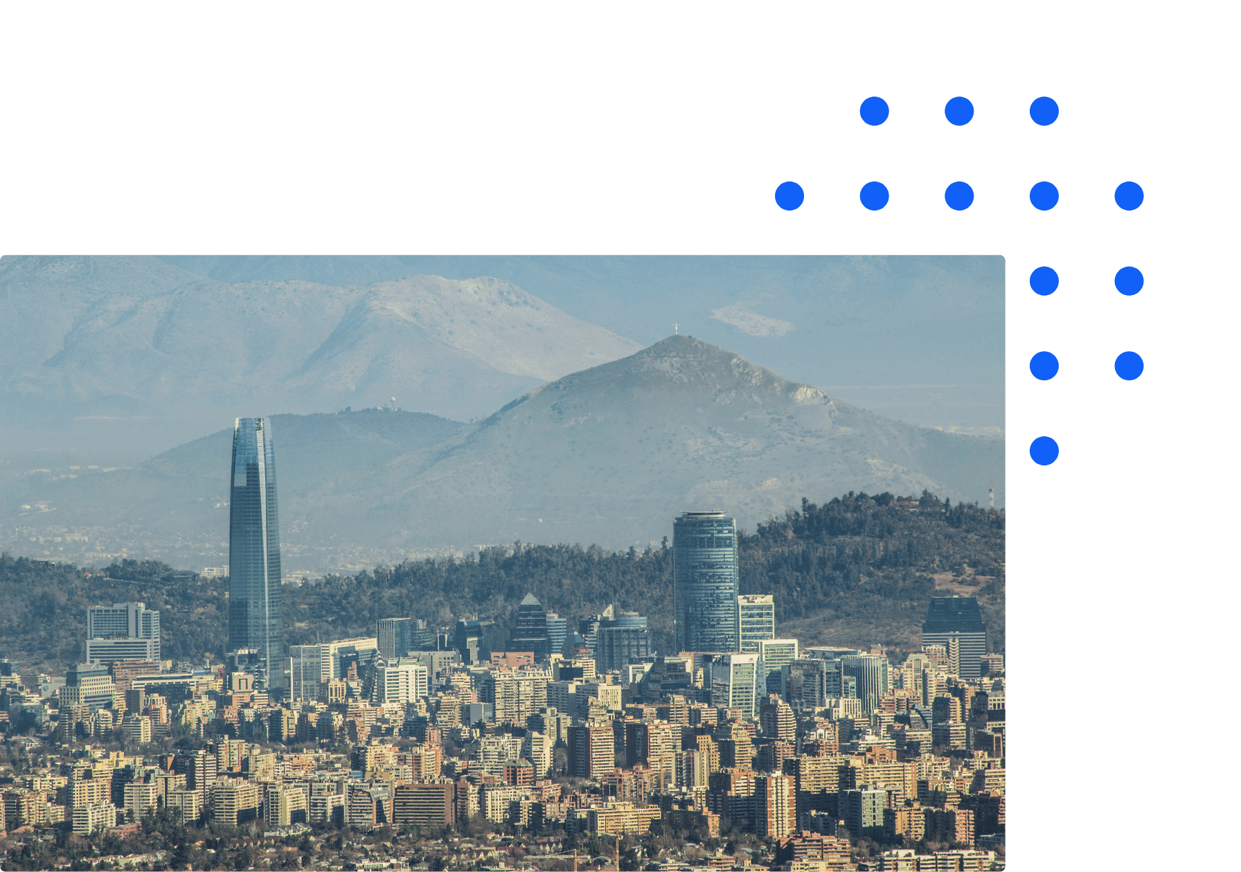 Chilean city skyline