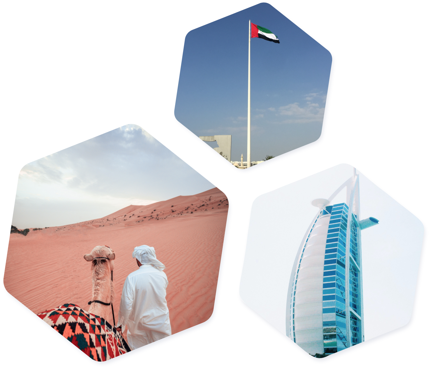 UAE images hexagon