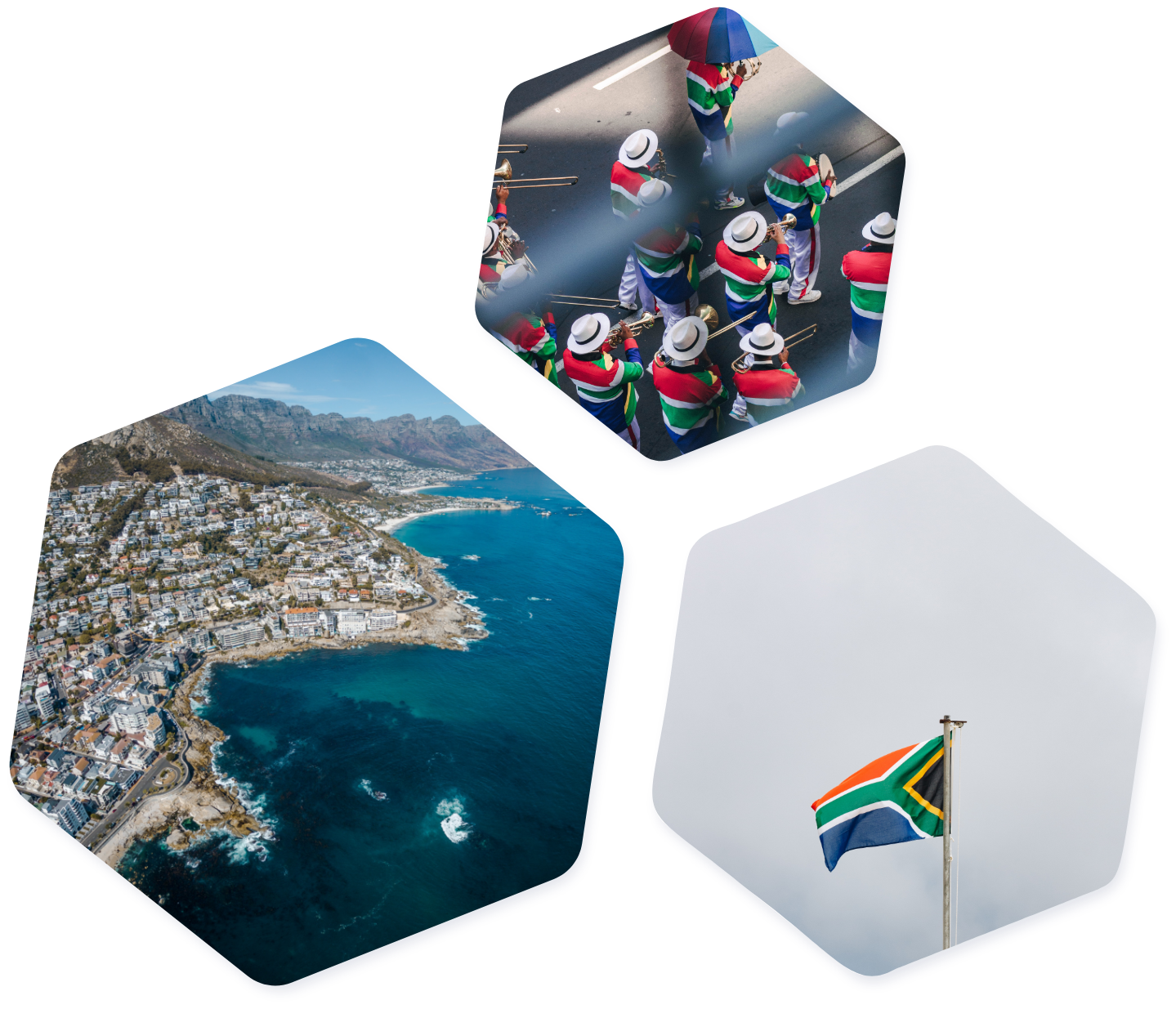 South Africa images hexagons