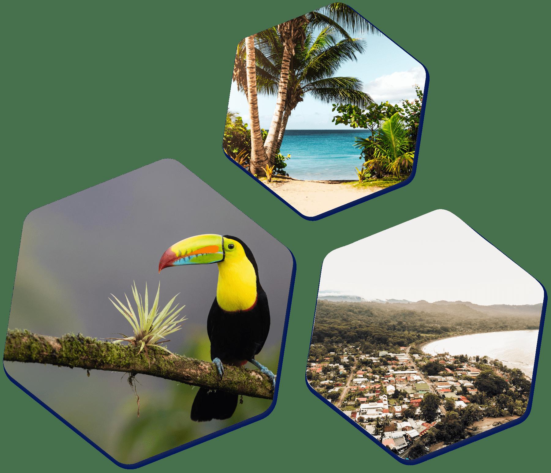 Costa Rica hexagon