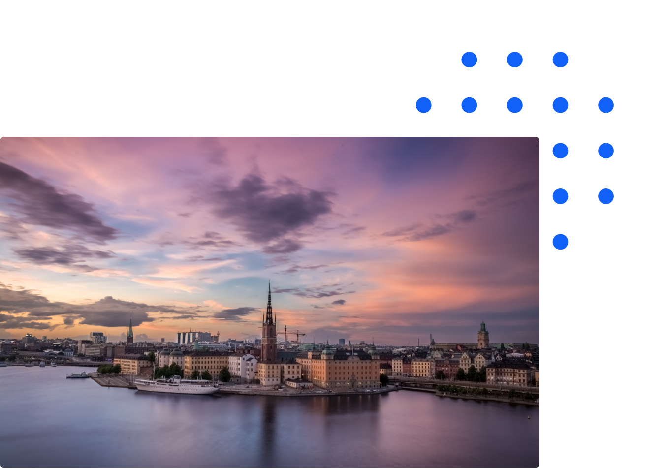 Stockholm during the sunset