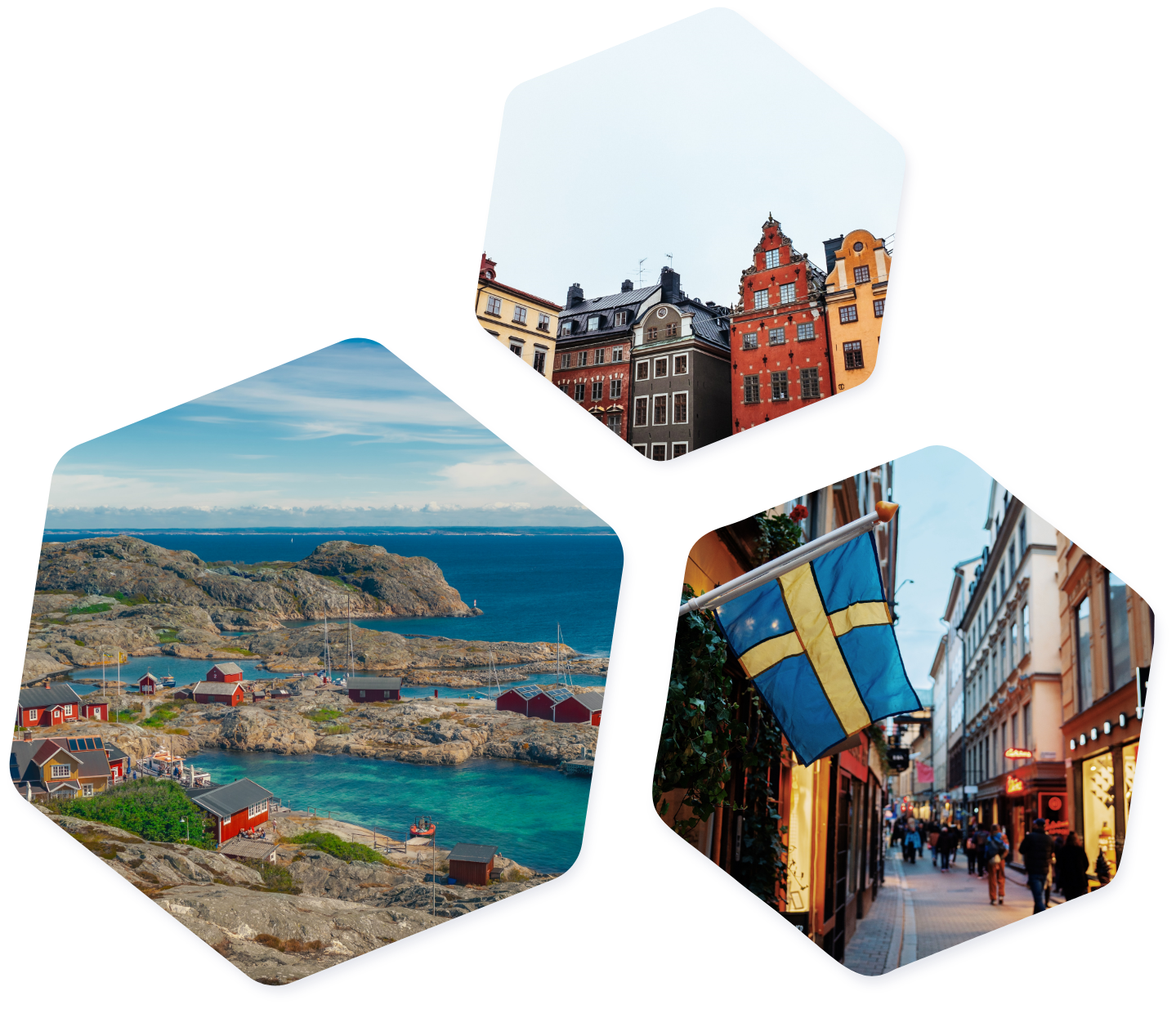 Sweden images hexagons
