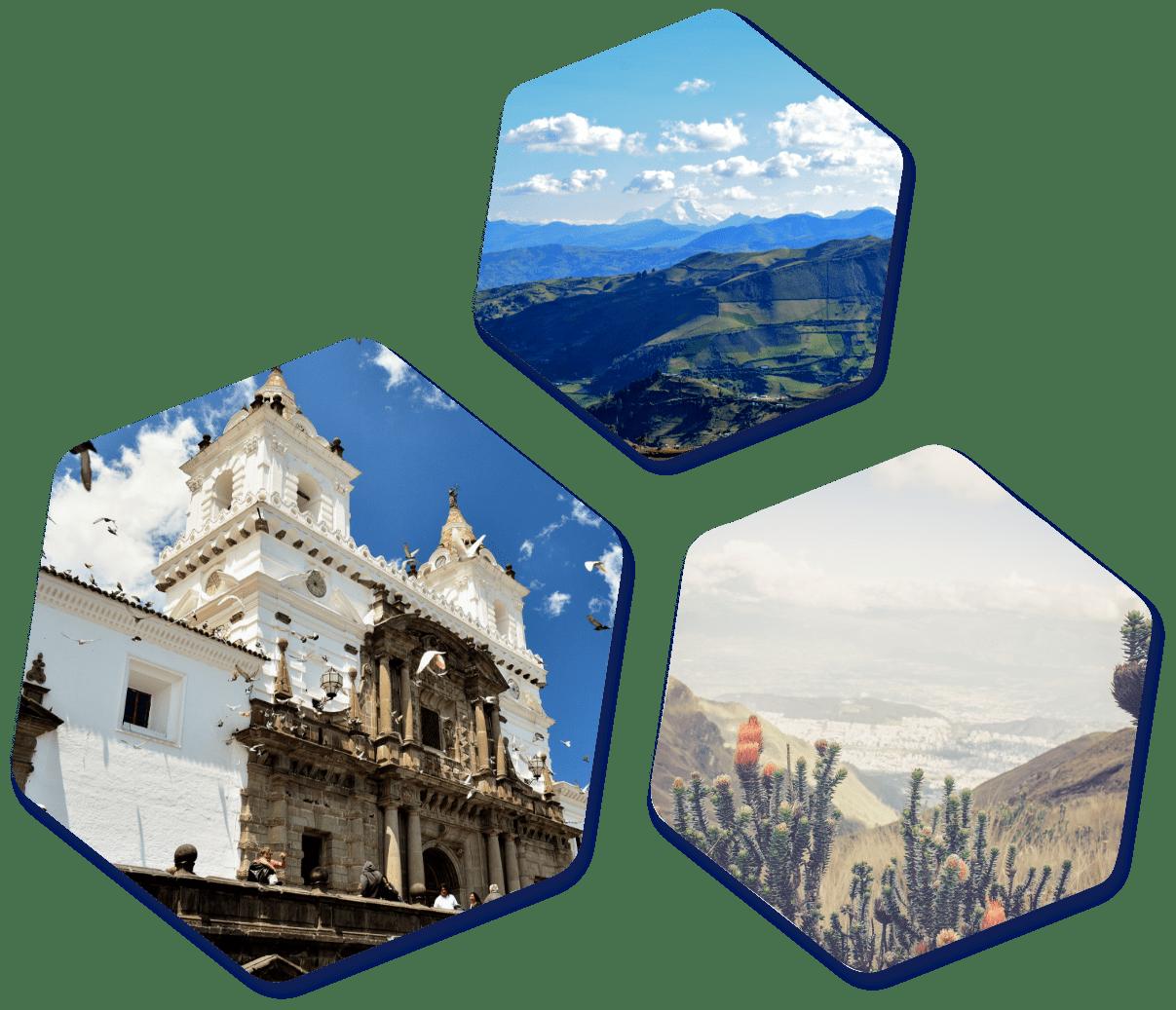 Ecuador images hexagon