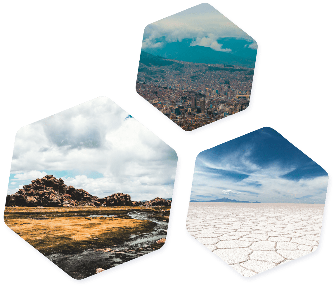 Bolivian images hexagons