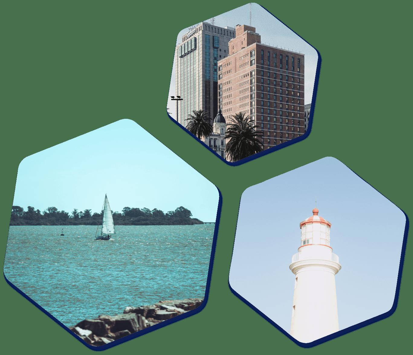 Uruguay images hexagons