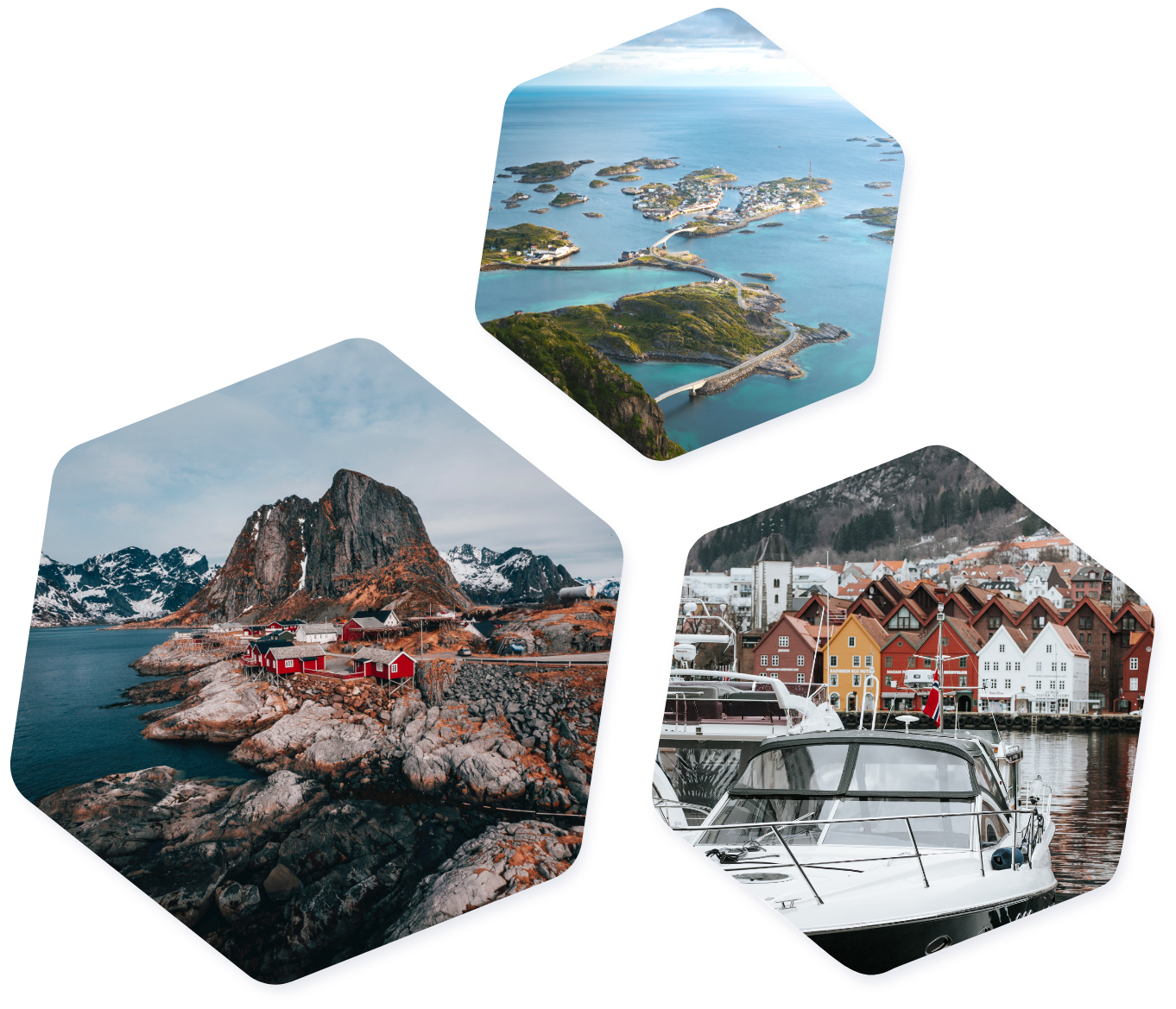 Norway images hexagon