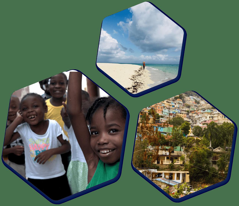 Haiti images hexagon