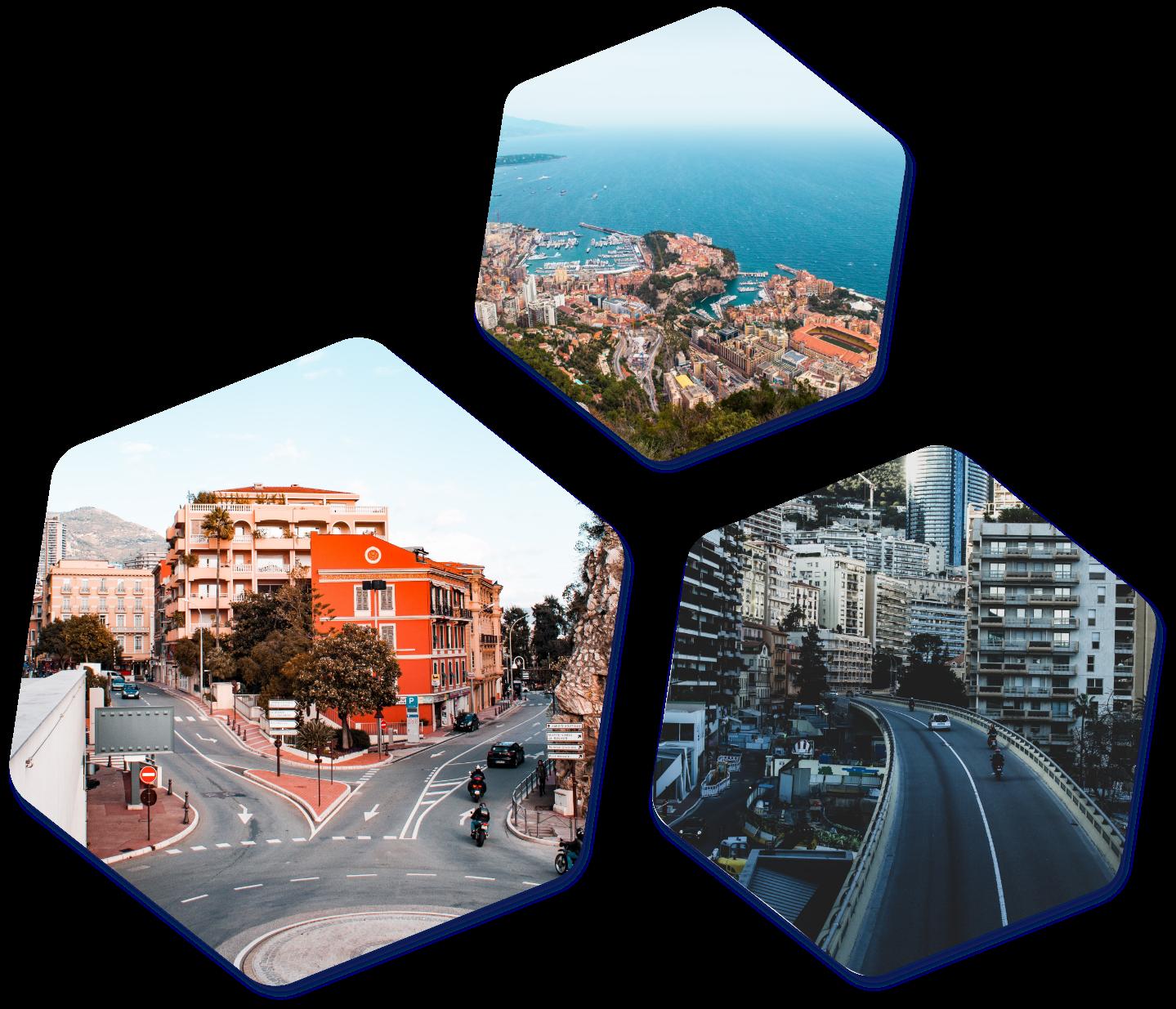 Monaco hexagon images