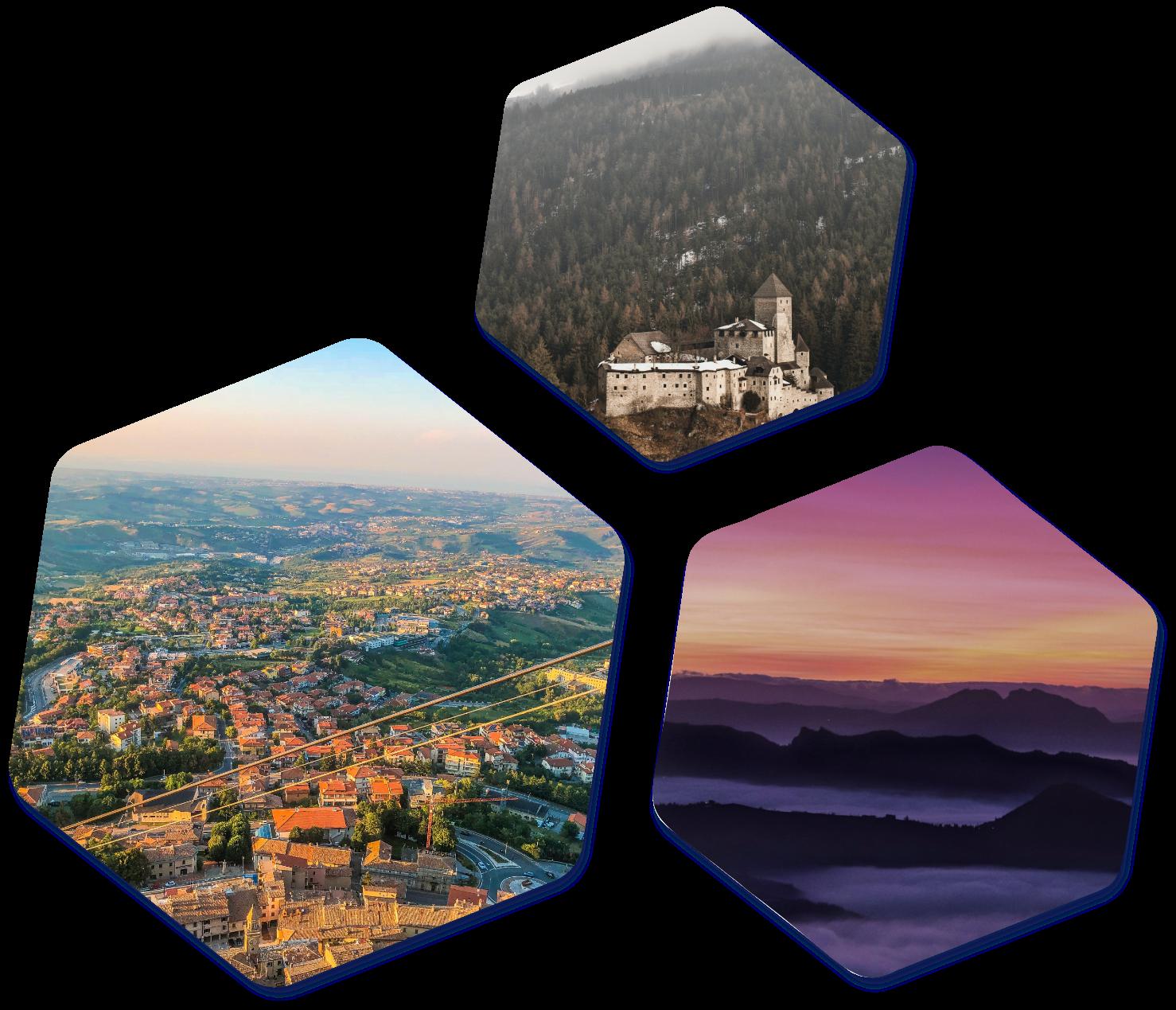 San Marino images hexagon
