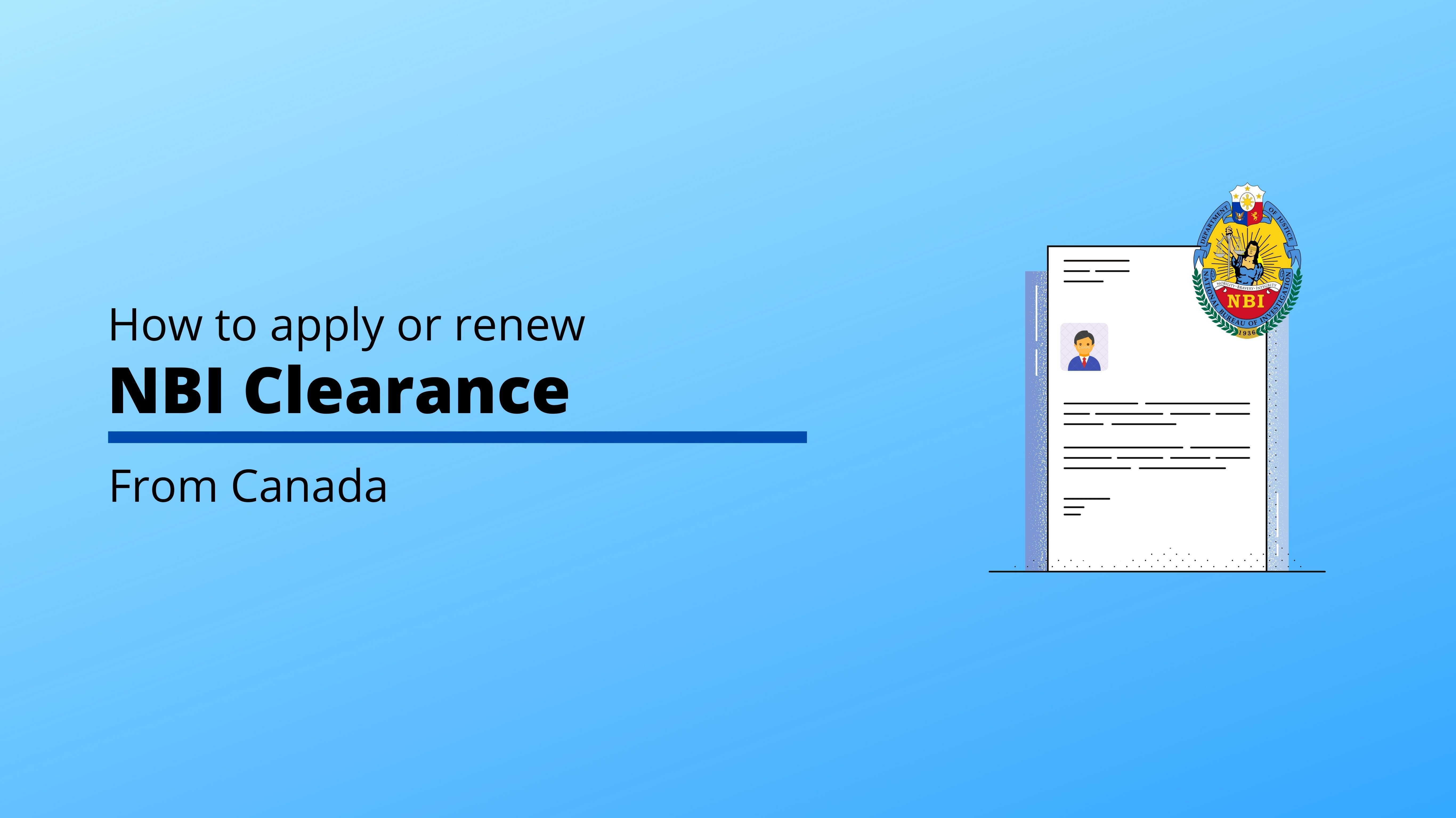How to Apply or Renew NBI Clearance from Canada