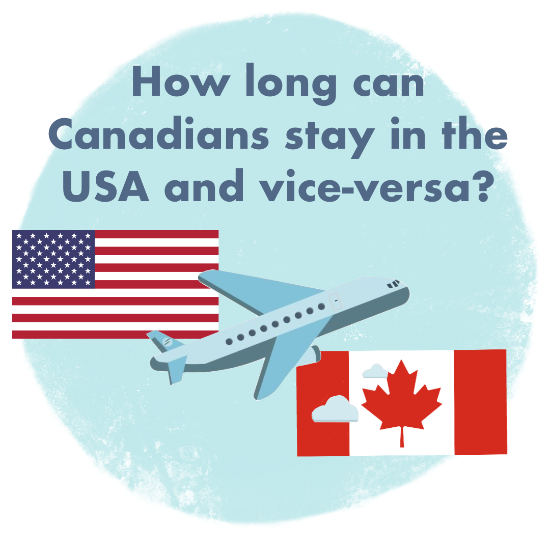 How Long Can Canadians Stay in the US and Vice-Versa?