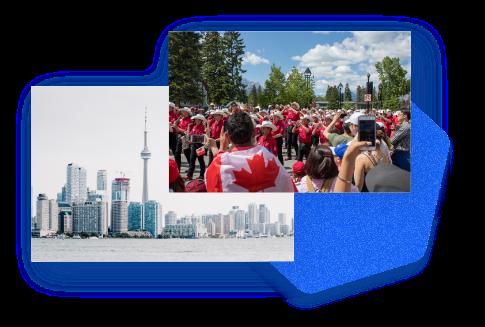 Toronto Canada Hexagon