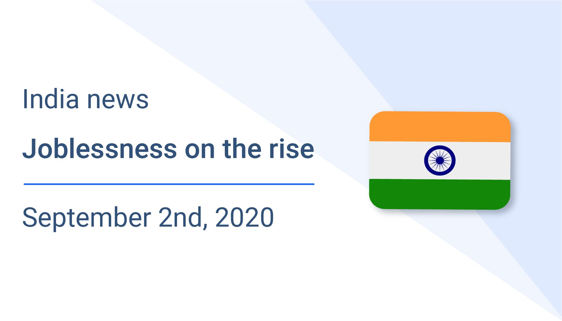 Joblessness on the rise in India