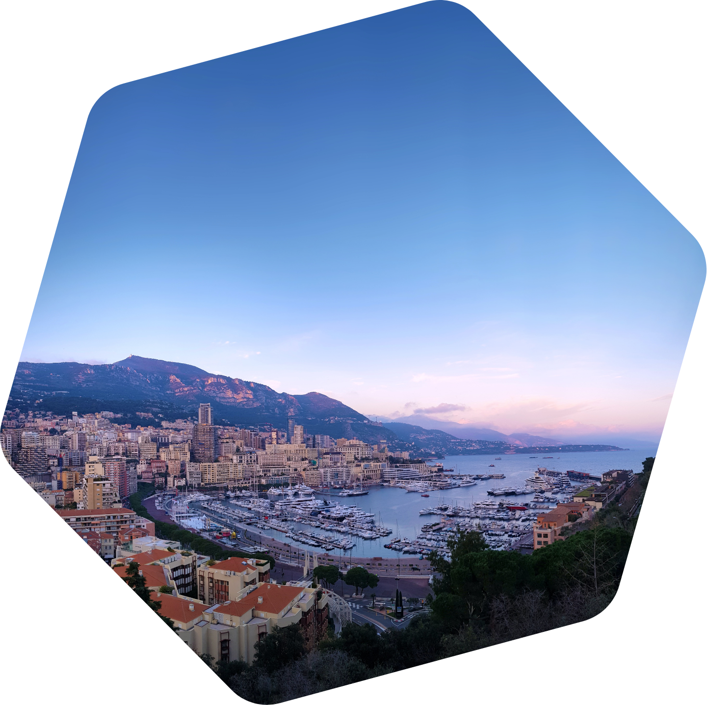 Monaco during sunset