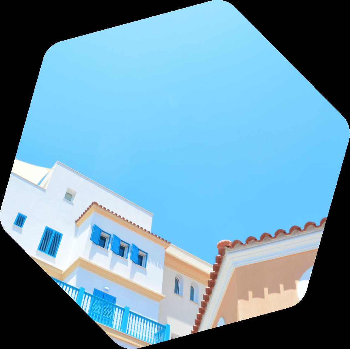 Cyprus sky and buildings